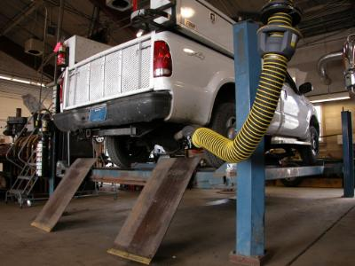Spring return hose systems are recommended for smaller working areas.